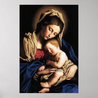 Madonna- und Kinderplakat Plakat