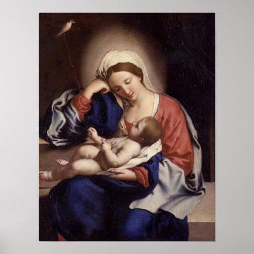 Madonna- und Kinderplakat Posterdruck