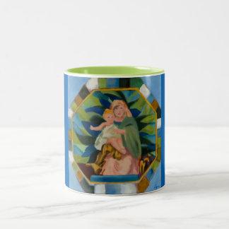 Madonna und KinderTasse Zweifarbige Tasse