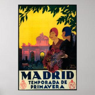 Madrid im Frühjahr-Reise-fördernden Plakat