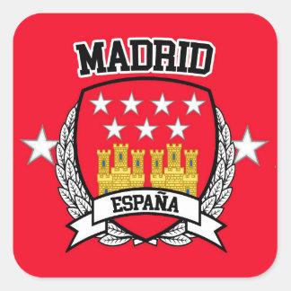 Madrid Quadratischer Aufkleber