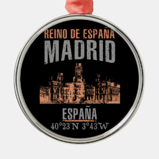 Madrid Silbernes Ornament