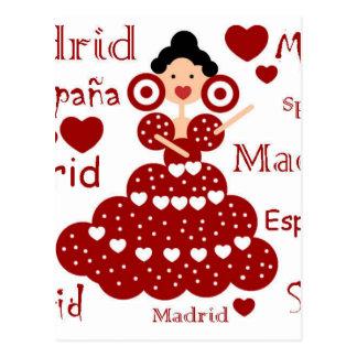 Madrid Spanien flämisches Handgelenk Postkarte