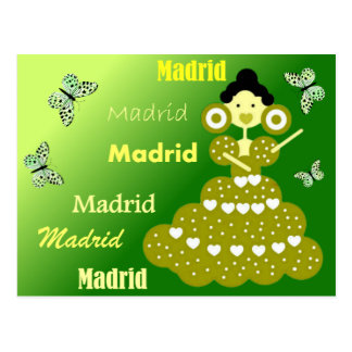 Madrid Spanien, Schmetterlinge im grünen Frühling, Postkarte