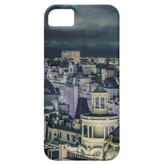 Madrid-Stadtbild-Nachtszenen-Luftaufnahme Barely There iPhone 5 Hülle
