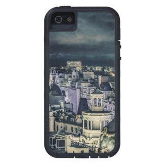 Madrid-Stadtbild-Nachtszenen-Luftaufnahme iPhone 5 Schutzhülle