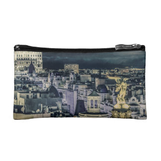 Madrid-Stadtbild-Nachtszenen-Luftaufnahme Makeup-Tasche