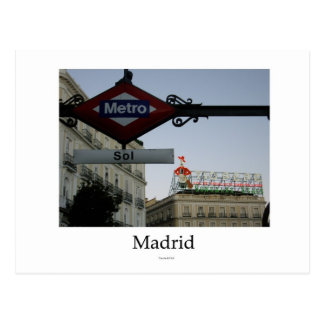 Madrid, Tür der Sonne, Postkarte