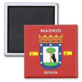 Madrid-Wappen Magneten Quadratischer Magnet