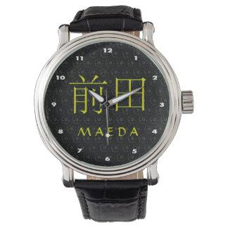 Maeda Monogramm Armbanduhr