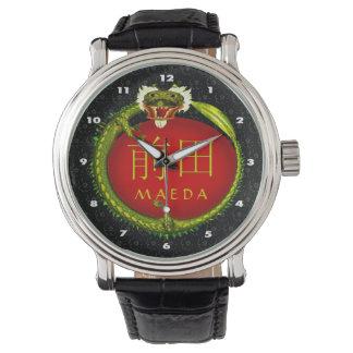 Maeda Monogramm-Drache Armbanduhr