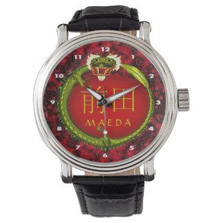 Maeda Monogramm-Drache Uhr