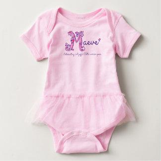 Maevenamen- und -bedeutungs-Babykleidung Baby Strampler