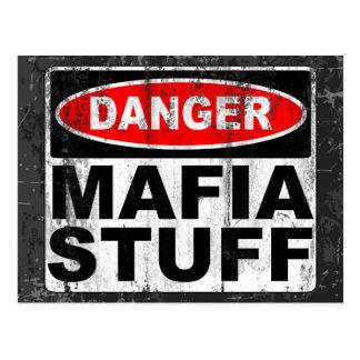 Mafia-Material Postkarte