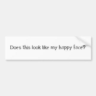 Mag dieser Blick mein glückliches Gesicht? Autoaufkleber