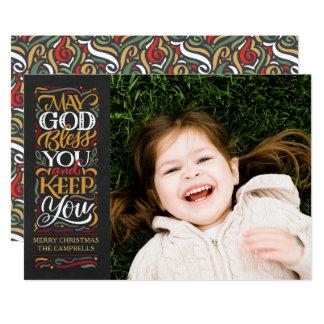 Mag Gott Sie segnen religiöse Weihnachtskarte Karte
