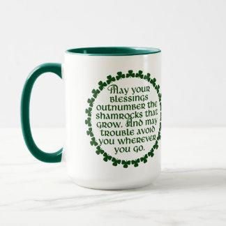 Mag Ihr Segen den Kleeblättern zahlenmäßig Tasse