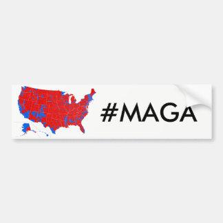 #MAGA - Wahlergebnis-Autoaufkleber Autoaufkleber