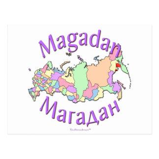 Magadan Russland Karte Postkarte