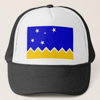 Magallanes, Chile, die Antarktis-Flagge Truckerkappe
