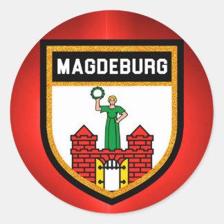 Magdeburg-Flagge Runder Aufkleber
