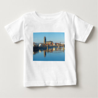 Magdeburg-Kathedrale mit Fluss Elbe 01 Baby T-shirt