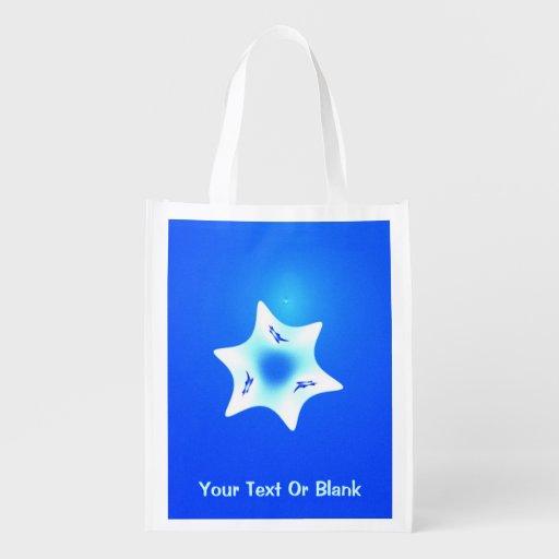 Magen Lavan (weißer Stern) Einkaufstaschen