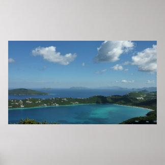 Magens Bucht, schöne Insel-Szene St Thomas Poster