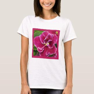 Magenta violett gemalt T-Shirt