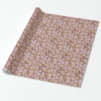 Magentarote Meerjungfrauskalen - Rosengold der Geschenkpapier
