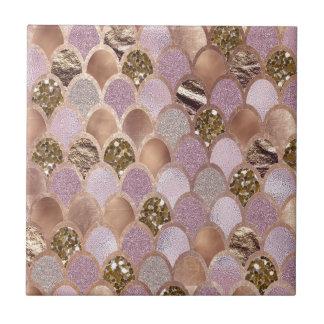 Magentarote Meerjungfrauskalen - Rosengold der Keramikfliese