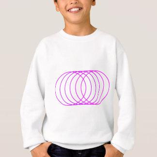 Magentarote Ringe Sweatshirt