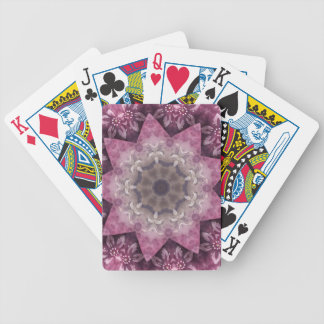 Magentarotes kreisförmiges ährentragendes Muster Bicycle Spielkarten