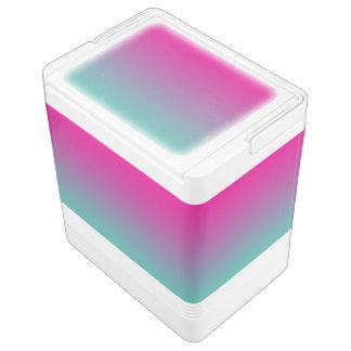 Magentarotes lila u. aquamarines Ombre Kühlbox