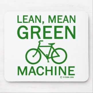 Magere grüne gemeine Maschine Mauspad