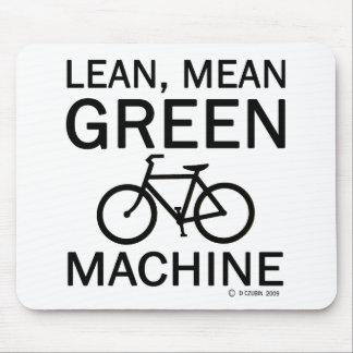 Magere grüne gemeine Maschine Mousepad