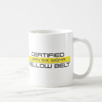 MAGERES sechs Sigma-gelbe Gurt-Kaffee-Tasse Kaffeetasse