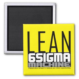 Mageres sechs Sigma-Maschinen-Gelb-Gurt-Magnet Quadratischer Magnet