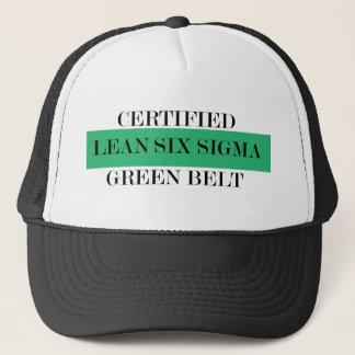 Mageres sechs Sigma zugelassener grüner Gürtel Truckerkappe