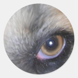 maggies eye runder aufkleber