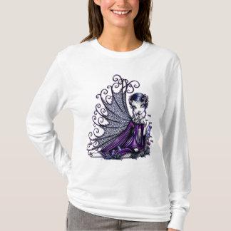 """""""Maggy"""" Pflaumen-Libellen-feenhaftes Kunst-Shirt T-Shirt"""