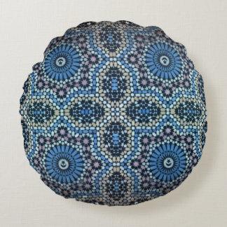 Maghrebinisches Mosaik Rundes Kissen