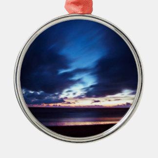 Magic Henne Beach in Denmark Silbernes Ornament