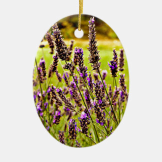 Magic Lavender Ovales Keramik Ornament