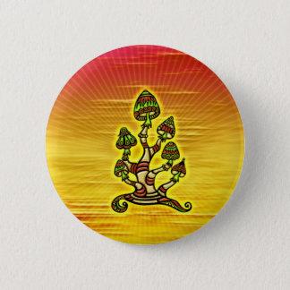 Magic Mushrooms - Zauber Pilze Runder Button 5,7 Cm