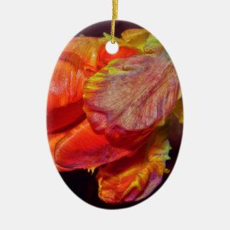 Magic Red Tulip Keramik Ornament
