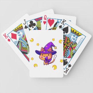 Magic wizard Cat Bicycle Spielkarten
