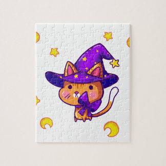 Magic wizard Cat Puzzle