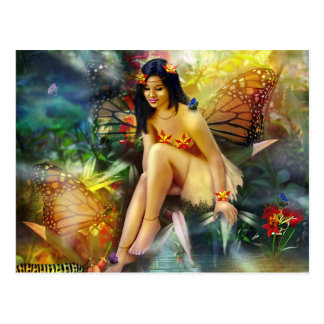 Magical Butterfly Fairy Postkarte