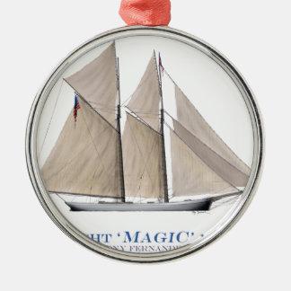 Magie 1870 silbernes ornament